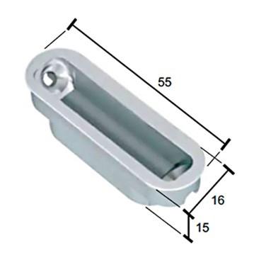 Ответная магнитная планка пластиковая MINIMAL для MEDIANA POLARIS - фото 11875