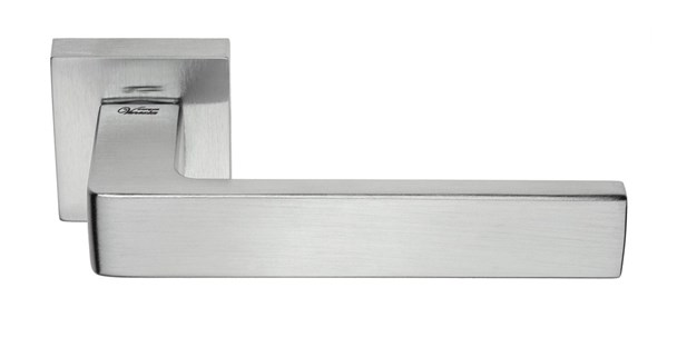 """Дверная ручка на квадратном основании Fratelli Cattini """"BOOM"""" 8-CR полированный хром - фото 11884"""