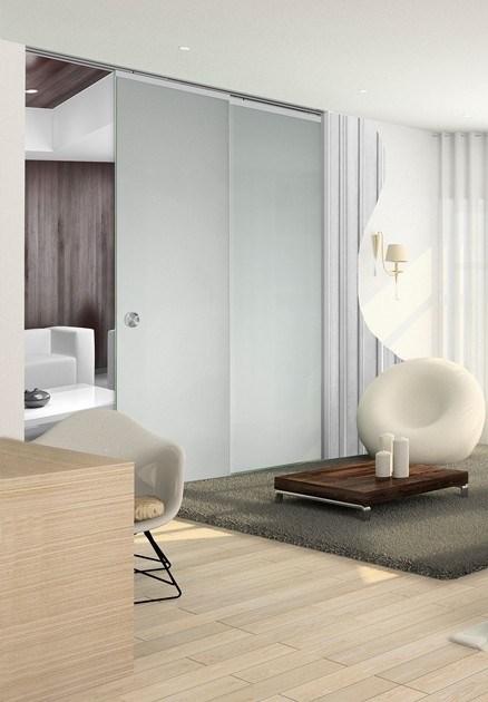 Потолочный дверной пенал Open Space PARALELO Glass Plus Soft (с доводчиком) для телескопических цельностеклянных полотен 2400-2499 мм - фото 12191
