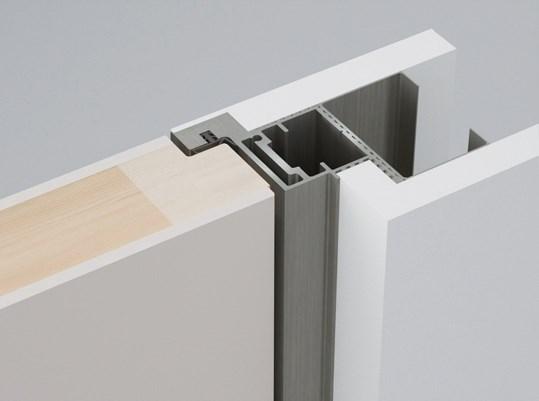 Алюминиевый короб Desing Zero In для скрытых дверей (открывание от себя) - фото 12228