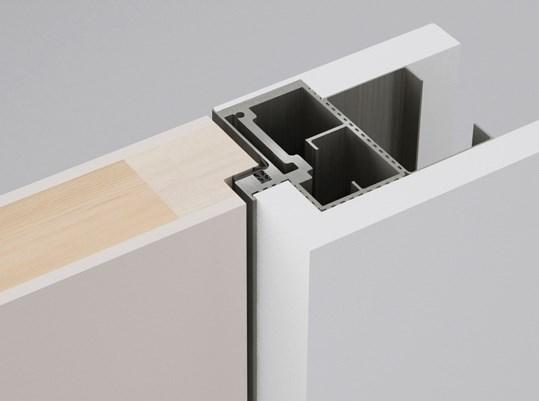 Алюминиевый короб Desing Zero Out для скрытых дверей (открывание на себя) - фото 12238
