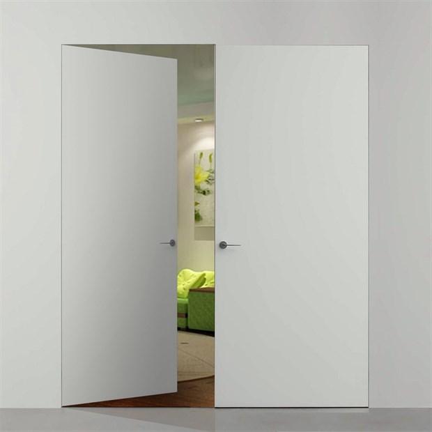 Комплект распашной скрытой двери DESING Zero IN (дверь-невидимка) внутреннего открывания - фото 12344