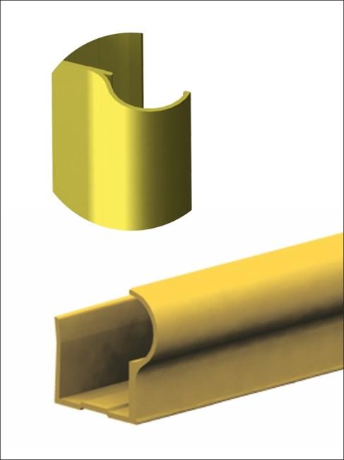Профиль алюминиевый вертикальный F-D 2700 золото - фото 6070