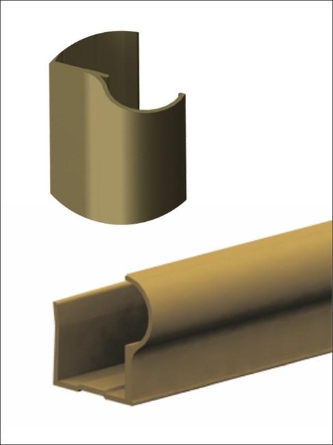Профиль алюминиевый вертикальный F-D 2700 шампань - фото 6072