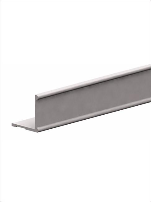 Профиль алюминиевый горизонтальный К2-decor 3000 серебро - фото 6074
