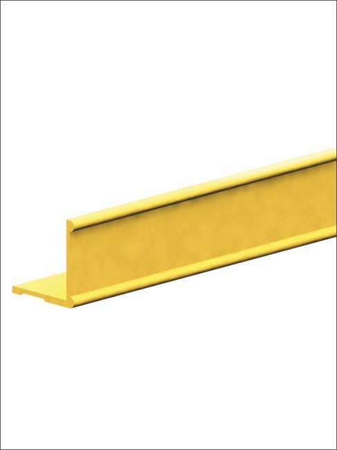 Профиль алюминиевый горизонтальный К2-decor 3000 золото - фото 6076