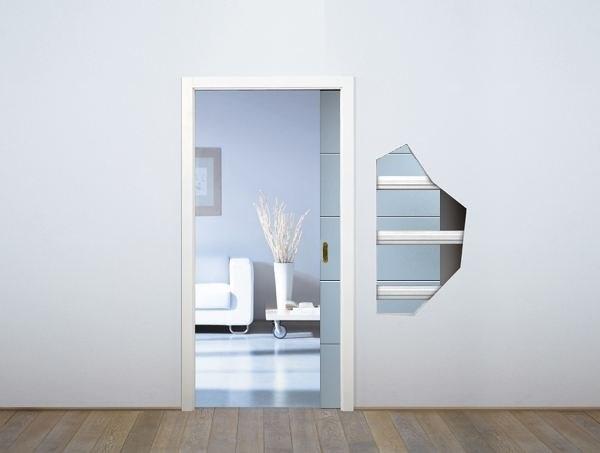 Пенал Eclisse Unico Single Glass для стеклянных дверей - фото 7059