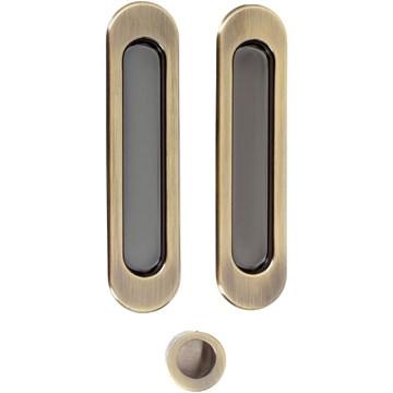 Комплект ручек для раздвижных дверей Armadillo SH010, бронза