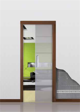 Пенал Open Space UNICO Glass для стеклянных дверей высотой 2000 мм.