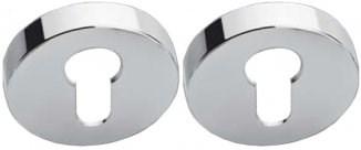Накладка под цилиндр на круглом основании COLOMBO FF13-CR полированный хром