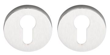 Накладка под цилиндр на круглом основании COLOMBO FF13-CM матовый хром