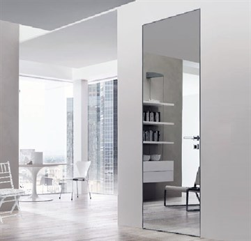 Зеркальная скрытая дверь DESING Zero IN (дверь-невидимка) внутреннего открывания