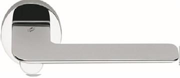 Дверная ручка на круглом основании COLOMBO Slim FF11RSB-CR полированный хром