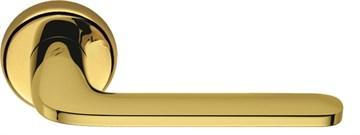 Дверная ручка на круглом основании COLOMBO Roboquattro ID41RSB-OL полированная латунь