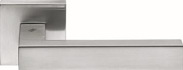 Дверная ручка на квадратном основании COLOMBO Elesse BD21RSB-CM матовый хром