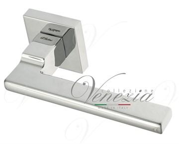 """Дверная ручка на квадратном основании Fratelli Cattini """"SLIM"""" 8-CR полированный хром"""