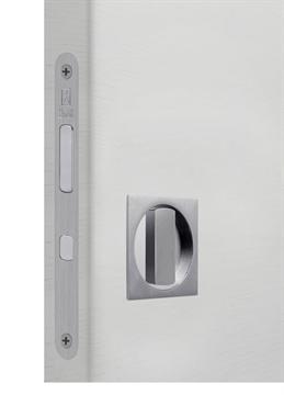 Замок для раздвижной двери G500T H21 Quadro комплект WC (Матовый хром)