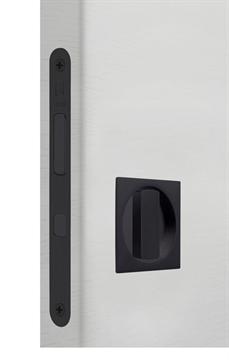 Замок для раздвижной двери G500T H21 Quadro комплект WC (Матовый черный)