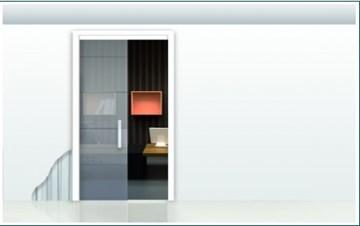 Пенал Open Space UNICO для стеклянных дверей высотой 2000 мм.