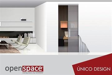 Пенал UNICO DESIGN для стеклянных дверей высотой 2000 мм.
