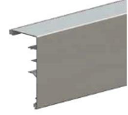 Планка маскировочная 2010мм HERKULES WOOD с заглушками для двери 45мм