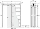 Пенал Eclisse Luce Single для дверей 2000 мм - фото 11667