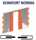 Кассета KOMFORT NORMA (под штукатурку) для двух дверей 2100 мм - фото 6346