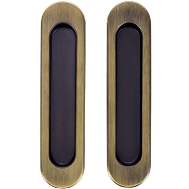 Комплект ручек для раздвижных дверей Armadillo SH010, матовая бронза - фото 11981