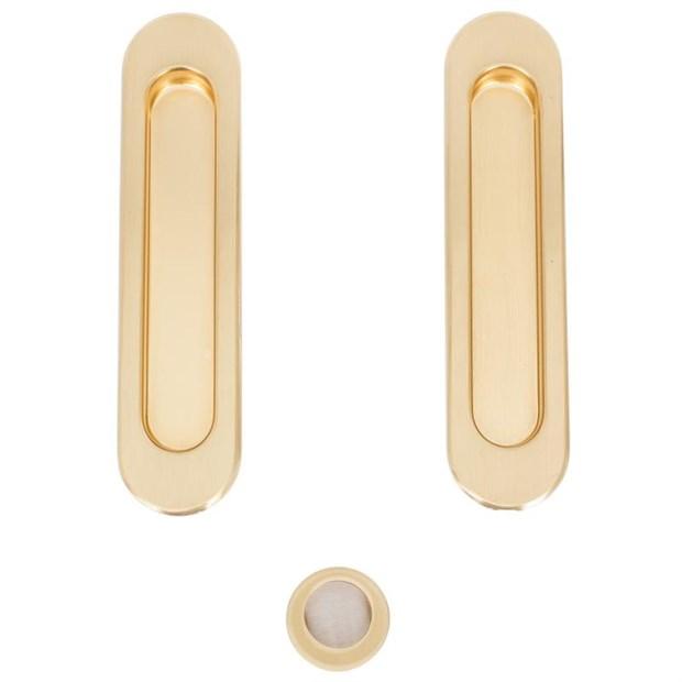 Комплект ручек для раздвижных дверей Armadillo SH010, матовое золото - фото 11983
