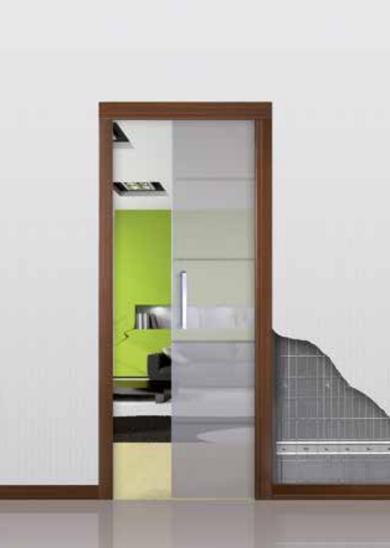Пенал Open Space UNICO Glass для стеклянных дверей высотой 2400 мм. - фото 12138