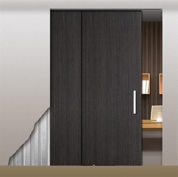 Потолочный дверной пенал Open Space PARALELO Wood Plus для дверей 2400-2499 мм - фото 12143