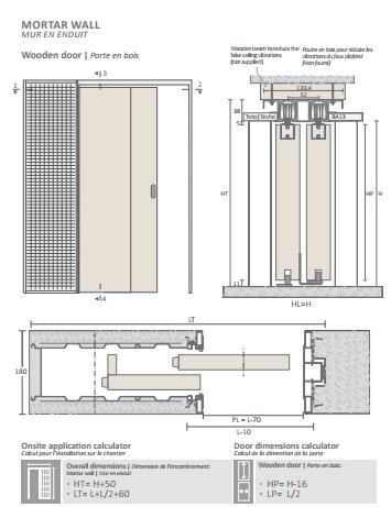 Потолочный дверной пенал Open Space PARALELO Plus для дверей 2500-2599 мм - фото 12147
