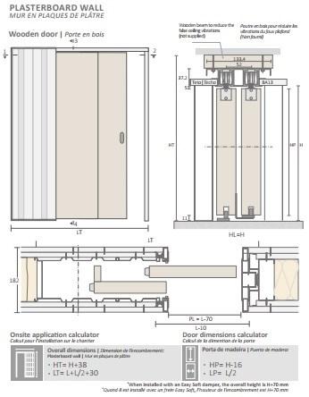 Потолочный дверной пенал Open Space PARALELO Plus для дверей 2500-2599 мм - фото 12148