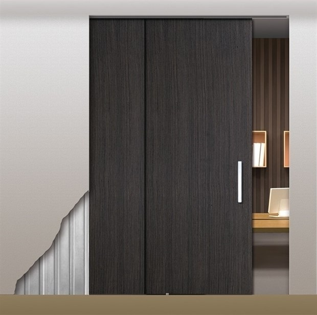 Потолочный дверной пенал Open Space PARALELO Wood Plus Soft (с доводчиком) для дверей 2500-2599 мм - фото 12161