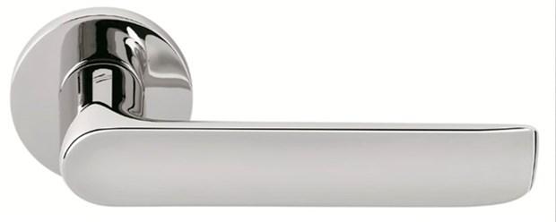 Дверная ручка на круглом основании COLOMBO Lund SE11RSB-CR полированный хром - фото 12354