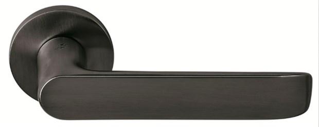Дверная ручка на круглом основании COLOMBO Lund SE11RSB-GM матовый графит - фото 12358