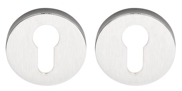 Накладка под цилиндр на круглом основании COLOMBO FF13-CM матовый хром - фото 12367