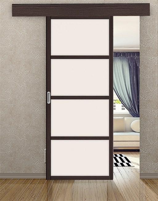 Комплект раздвижной двери Symetric Scorrio V1Wenge - фото 12504