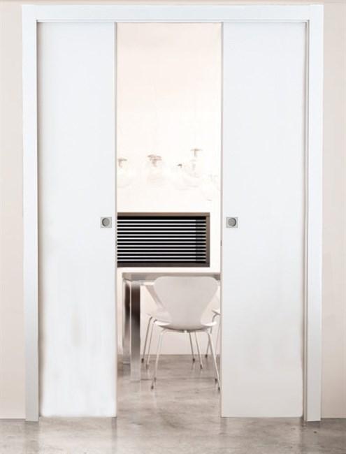 Комплект пенала Eclisse Unico Double с комплектом обрамления и дверными полотноми под покраску - фото 12938