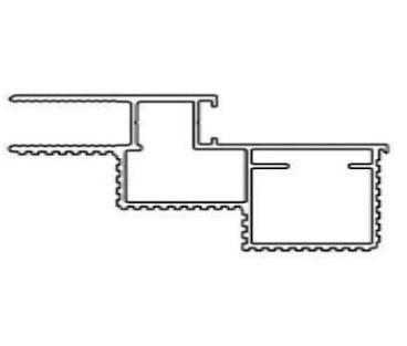 Алюминиевый короб Desing для скрытых дверей - фото 12951