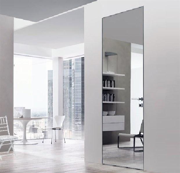 Зеркальная скрытая дверь DESING Zero IN (дверь-невидимка) внутреннего открывания - фото 12968