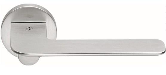 Дверная ручка на круглом основании COLOMBO Slim FF11RSB-CM матовый хром - фото 13137