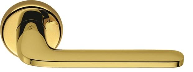 Дверная ручка на круглом основании COLOMBO Roboquattro ID41RSB-OL полированная латунь - фото 13145