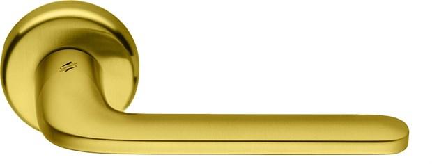 Дверная ручка на круглом основании COLOMBO Roboquattro ID41RSB-OM матовое золото - фото 13147