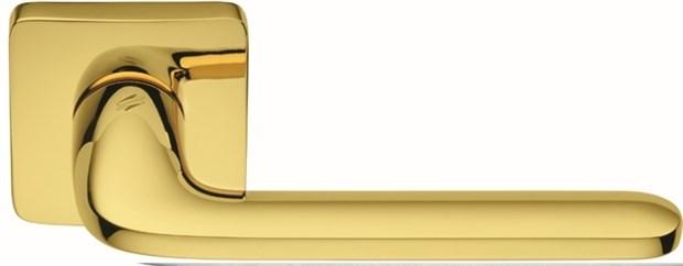 Дверная ручка на квадратном основании COLOMBO Roboquattro S ID51RSB-OL полированная латунь - фото 13164