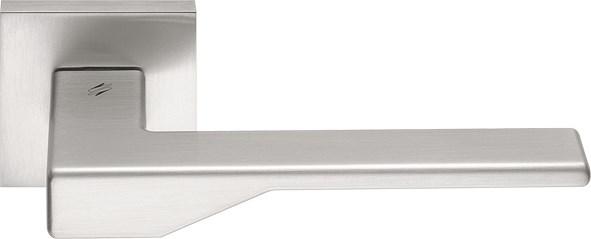 Дверная ручка на квадратном основании COLOMBO Dea FF21RSB-CM матовый хром - фото 13200