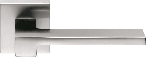 Дверная ручка на квадратном основании COLOMBO Zelda MM11RSB-CM матовый хром - фото 13207