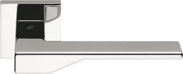 Дверная ручка на квадратном основании COLOMBO Dea FF21RSB-CR полированный хром - фото 13208