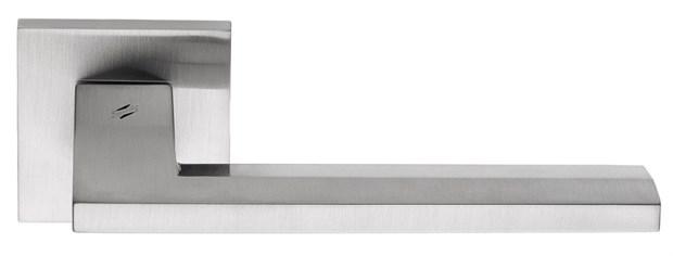 Дверная ручка на квадратном основании COLOMBO Electra MS11RSB-CM матовый хром - фото 13209