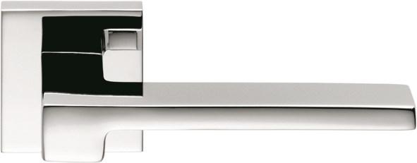 Дверная ручка на квадратном основании COLOMBO Zelda MM11RSB-CR полированный хром - фото 13211